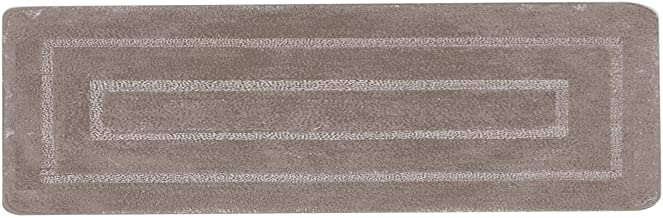"Luxury Home Collection Soft Microfiber Extra Long Non Slip Bath Rug Mat/Runner 20"" x 60"" (Runner, Taupe)"