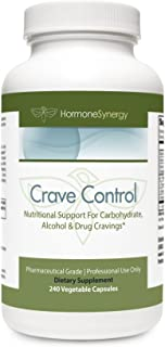 Crave Control | 240 Veg. Caps | 5-HTP, DL-Phenylalanine, L-Tyrosine, L-Glutamine, Chromium | Support for Carbohydrate, Alcohol & Drug Cravings* | Pharmaceutical Grade