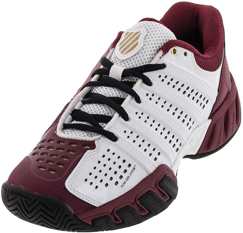 KSwiss Juniors` Bigshot Light 2.5 Tennis shoes White Biking Red()