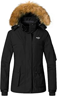 Women's Warm Parka Mountain Ski Fleece Jacket Waterproof...