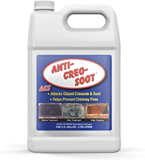 Liquid Creosote Remover - Anti-Creo-Soot   1 Gallon Bottle   Removes Dangerous Glazed Creosote and Soot