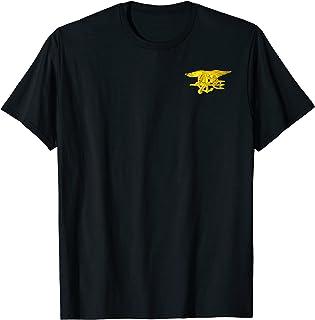 T-shirt militaire « Special Warfare Insignia » avec sceau bleu marine T-Shirt