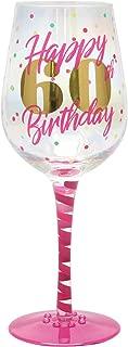 Top Shelf Decorative 60th Birthday Wine Glass, For Red or White Wine, Unique Gift Idea