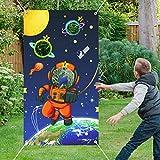 Dsaren Sistema Solar Juegos de Lanzamiento Juguete Astronauta Espacio Exterior Juegos con 4 Bolsitas de Frijoles de...