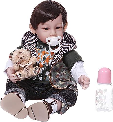 Vivitoch Reborn Puppe, 50 cm, realistisch, Weißhes Silikon, Vinyl