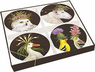 Paperproducts Design 28151 Bone China Appetizer Salad Plates (Set of 4), 7