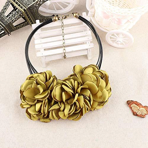 TTDAltd Halskette Rosafarbene Halskette 1Pcs des Neuen Art Und Weiseböhmischen Gewebes Retro- Halskette Der Frauen @ 2