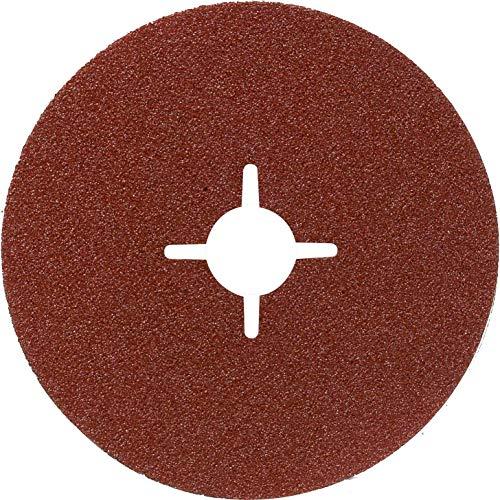Bosch Professional Fiberschleifscheibe (für Winkelschleifer verschiedene Materialien, Ø 125 mm, Körnung 100)