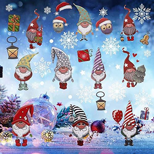 Pegatinas de Navidad BESTZY Vinilo Navidad Copos de Nieve Adhesivos Navidad Pegatinas de Ventana de Navidad Adornos Artículos de Fiesta Decoracion Navideña Regalos