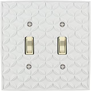 Meriville Colfax 2 Toggle Wallplate, Double Switch Electrical Cover Plate, Off White