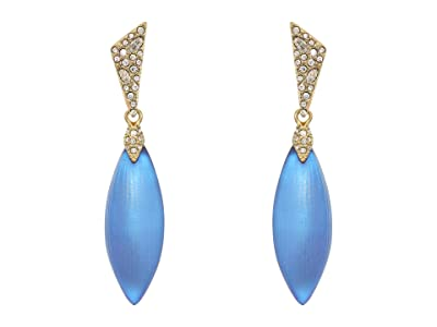 Alexis Bittar Pave Capped Petal Post Earrings (Iridescent Iris) Earring