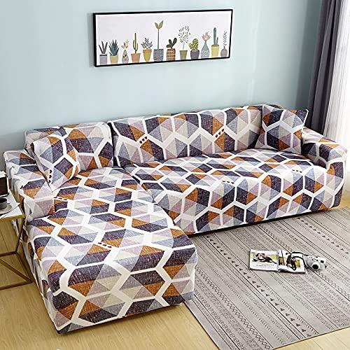 Funda de sofá elástica Antipolvo seccional en Forma de L, Funda de sofá de Esquina Ajustada, Funda de sofá para Mascotas A9, 1 Plaza