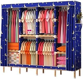 HWG Penderie Portable, Armoires en Toile Solide Et Durable, Armoires Pliables pour Ranger Vêtements, Chaussures, Bagages,A