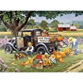 Bits and Pieces - 1000 Piece Jigsaw Puzzle for Adults - Home Grown - 1000 pc Fall on The Farm Jigsaw by Artist John Sloane from Melville Direct