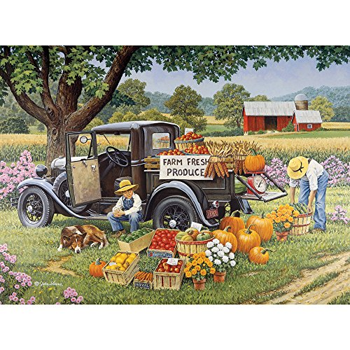 Bits and Pieces -  Home Grown - 1000 pc Fall on The Farm Jigsaw by Artist John Sloane