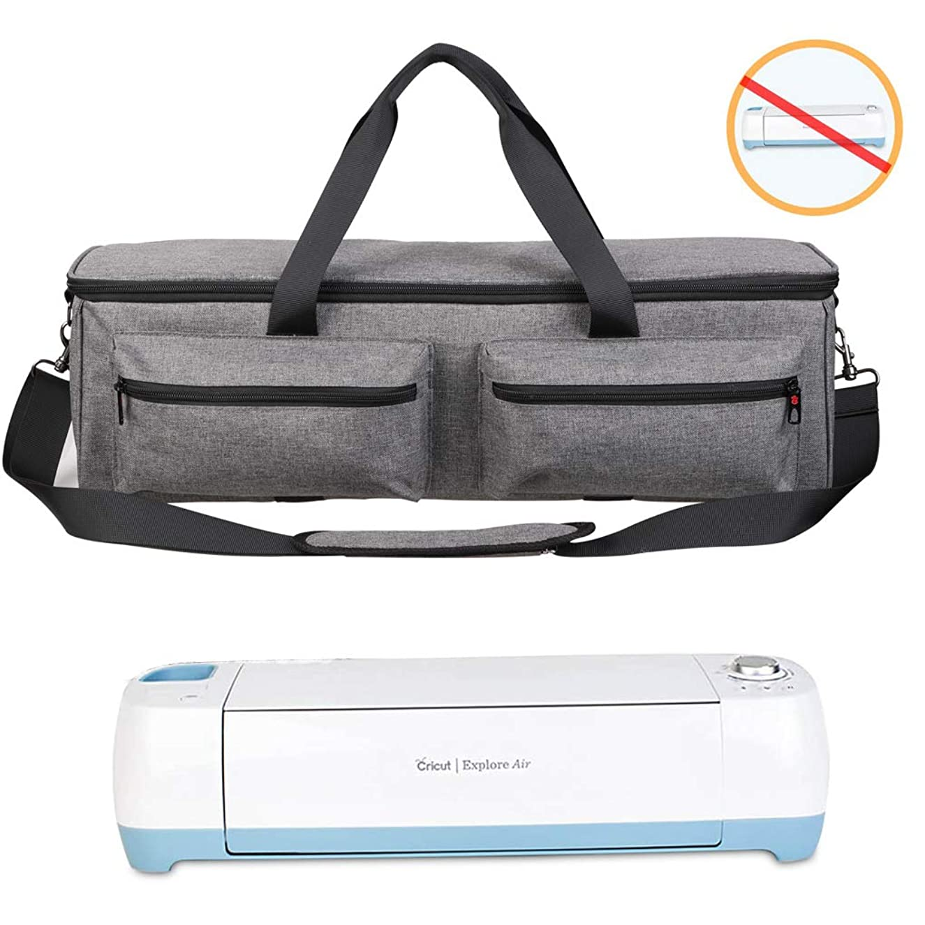 Carrying Bag Compatible with Cricut Explore Air and Maker, Tote Bag Compatible with Cricut Explore Air and Supplies (Bag Only, Patent Pending) (Gray)