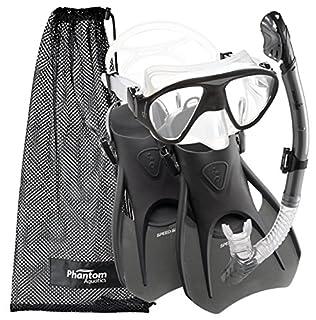 Phantom Aquatics Phantom Aquatics Speed Sport Signature Mask Fin Snorkel Set, Silver, Medium, 7-10 (B01DV25U9E) | Amazon price tracker / tracking, Amazon price history charts, Amazon price watches, Amazon price drop alerts