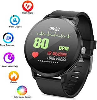 "Waterproof Fitness Tracker Watch, lesgos V11 1.3"" Color Screen Bluetooth Smart watch with Blood Pressure/Heart Rate/Calorie/Sleep Monitor/Activity Tracker for Android/iOS"