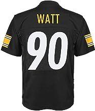 Pittsburgh Steelers NFL Boys Youth 8-20 Black//Gray Titanium Raglan Pullover Crewneck Sweatshirt