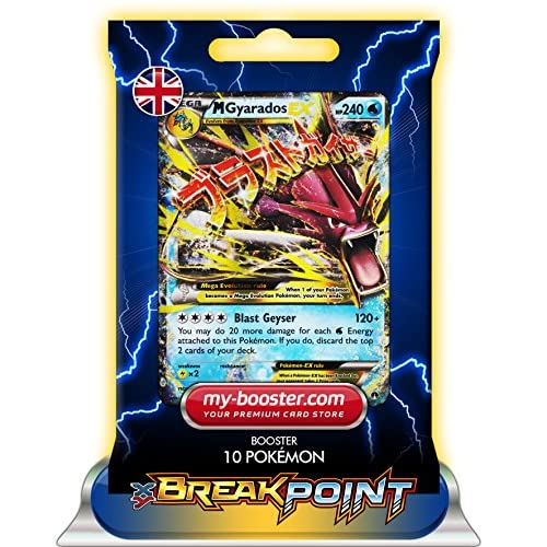 MEGA M GYARADOS EX 27/122 240HP XY09 BREAK POINT - Booster 10 English Pokemon trading cards my-booster