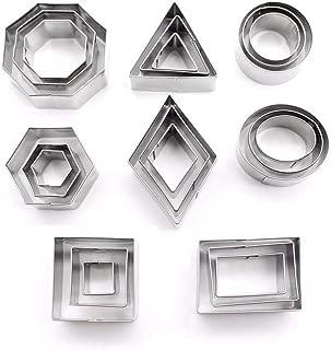 DEVIN0705-24 geometric stainless steel metal cutting dies (pastries, dough, pie crust, fruit, fondant, clay)