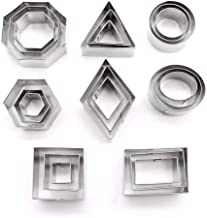 DEVIN0705-24 geometric stainless steel metal cutting dies (pastries, dough, pie crust, fruit, fondant, clay)