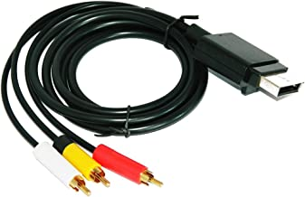 Link-e : Cavo AV audio/video HD RCA per console XBOX360 (contatti dorati, lunghezza 1,80 m)