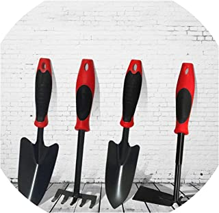 Fly-Town 4PCS/Set Gardening Shovel Double-Headed Hoe Rake Wide/Narrow Shovel Garden Flower Planting Set Supplies