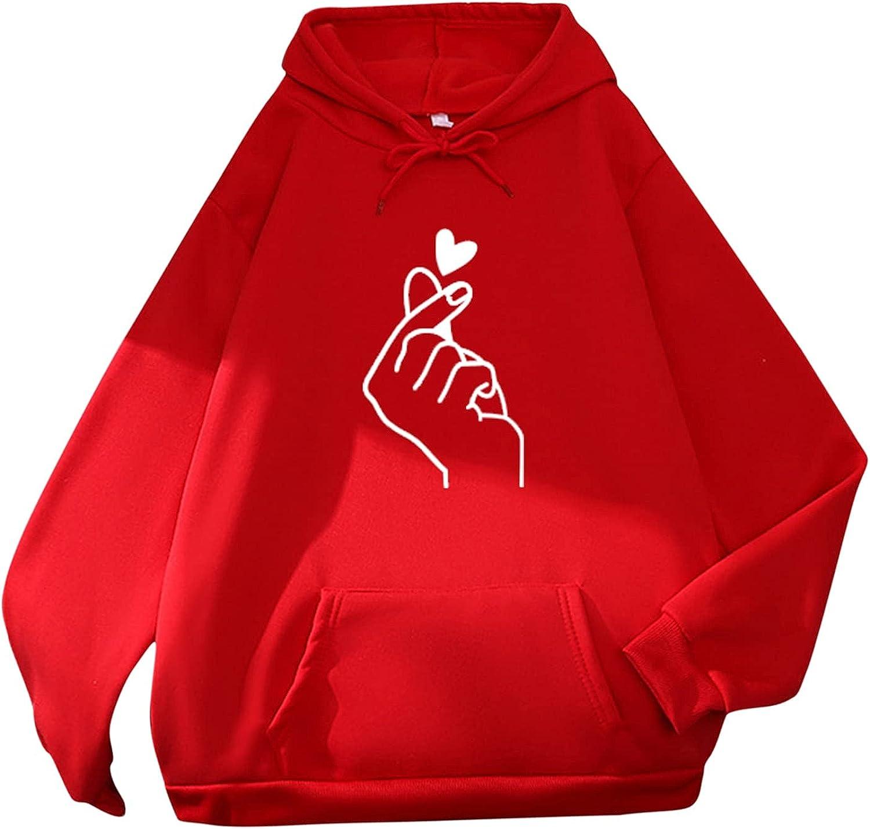 Ladies Fall Fashion Hoodies Cute Print Shirt Portland Mall Long Sleeve Casual OFFicial store