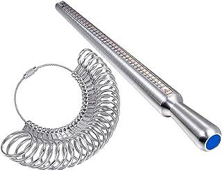 otutun Mesure Taille Bague, Baguier Calibreur pour Mesurer Ring Sizer Anneaux Jauge de Doigt Ring Sizer Anneaux pour Jauge...
