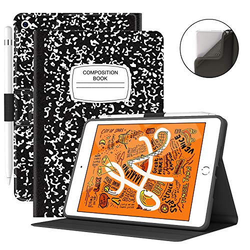 VECO iPad Mini 5 Case with Pencil Holder - Premium Shockproof Case with Auto Sleep/Wake Feature for iPad Mini 5th Generation (Book)