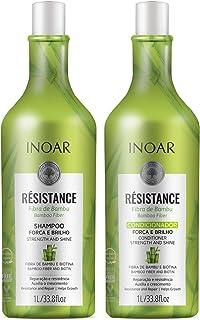 Kit Inoar Shampoo + Condicionador 1 litro Resistance Bambu