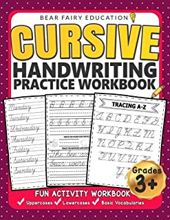 Cursive Handwriting Practice Workbook for 3rd 4th 5th Graders: Cursive writing book, Alphabet Cursive Tracing Book, Cursive handwriting workbook for kids