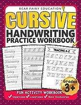 Cursive Handwriting Practice Workbook for 3rd 4th 5th Graders: Cursive writing book, Alphabet Cursive Tracing Book, Cursive handwriting workbook for kids