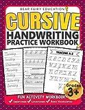 Cursive Handwriting Practice Workbook for 3rd 4th 5th Graders: Cursive writing book, Alphabet