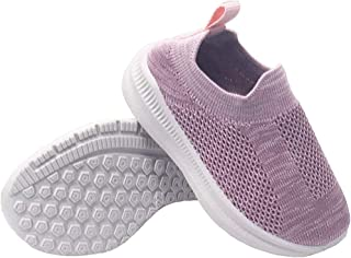 Dream Bridge Toddler Slip On Sneakers Lightweight Knit Casual Shoes Breathable Walking Shoes for Boys Girls