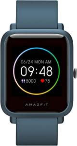 """Amazfit Bip S Lite Smart Watch Fitness Tracker for Android iPhones, 30 Days Battery Life,14 Sports Modes, Heart Rate & Sleep Monitor, 5 ATM Waterproof, 1.28"""" Always-on Display, for Men Women(Blue)"""