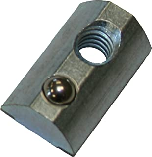 Faztek 15 Series Carbon Steel Drop In T-Nut with Alignment Ball, Clear Zinc Finish, 1/2