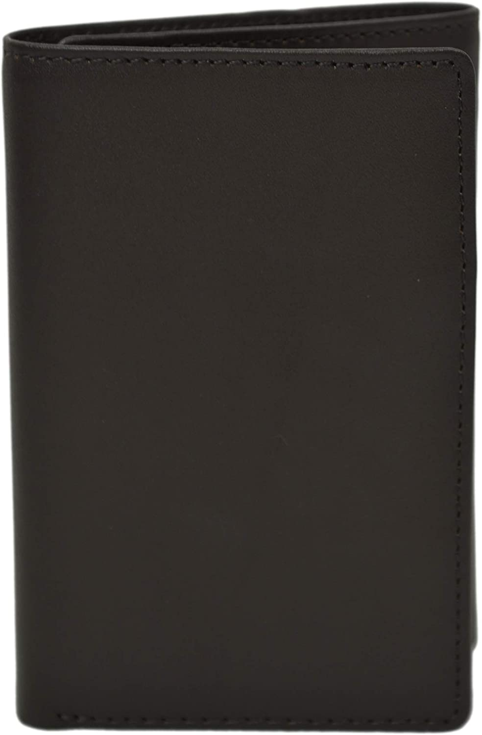 Brooks Brothers Men's 00011165 Genuine Leather Trifold Wallet with Giftbox (Brown)