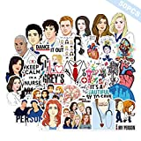 The TV Show Greys Anatomy Funny Pack of 50 Stickers,Laptop Stickers for Water Bottles.Waterproof Laptops Sticker Vinyl Decal Sticker for Phone,Computer,Hydro Flasks,Cars,Bicycles (Grey's Anatomy)