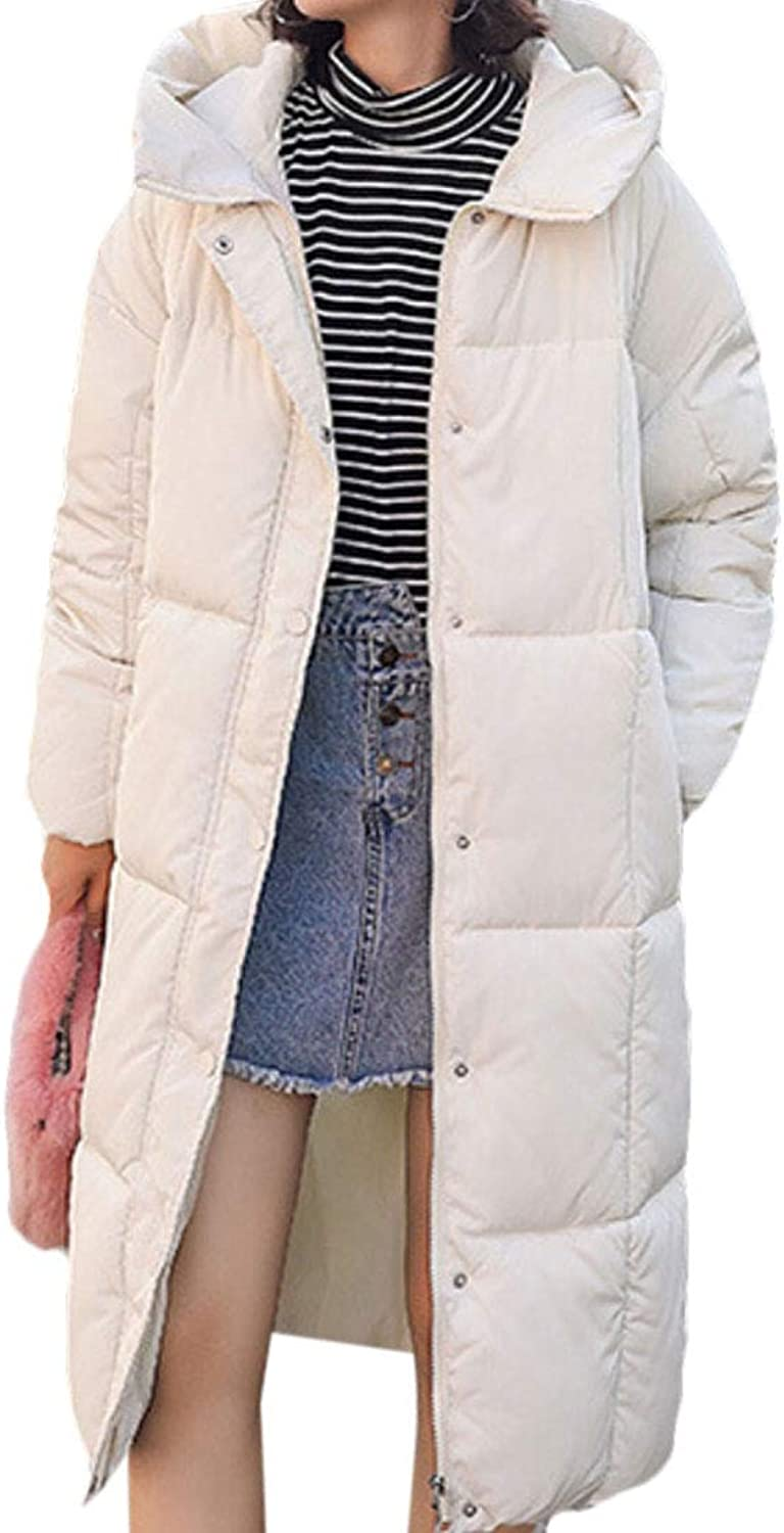 Maweisong Women Warm Hooded Coats Down Parkas Anroaks Long Jacket Overcoat