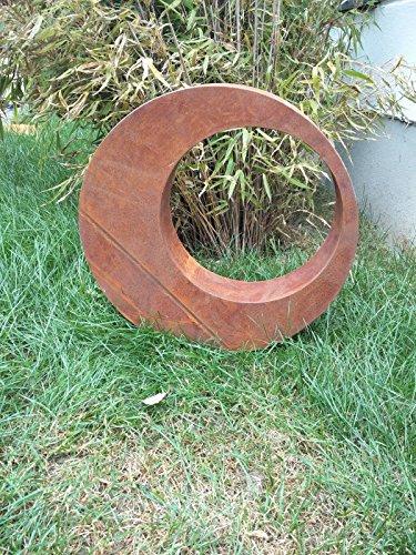 Zen Man Edelrost Gartenstecker Rost Gartenskulptur (aus Metall) Garten Figure Glück Symbol Gartendeko H40*40 * 5cm