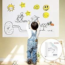 ホワイトボード シート ウォールステッカー 子供の落書き対応 マーカーペン1本付き 会議室・幼稚園・学校に適用 拭いやすい 裁断可能 付属品付 人気製品 60cm*200cm