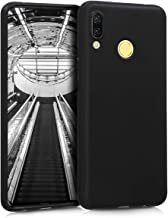 kwmobile TPU Silicone Case Compatible with Huawei Nova 3 - Soft Flexible Protective Phone Cover - Black Matte
