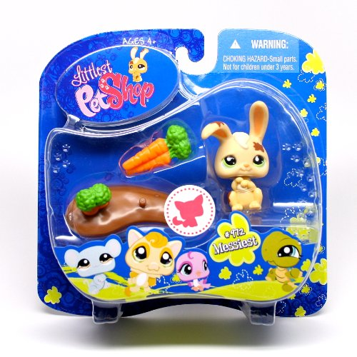 Littlest Pet Shop Assortment 'A' Series 3 Collectible Figure Bunny with Mud Puddle
