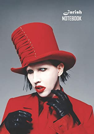 Notebook: Marilyn Manson Medium College Ruled Notebook 129 pages Lined 7 x 10 in (17.78 x 25.4 cm)