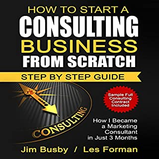 How to Start a Consulting Business from Scratch: Step by Step Guide audiobook cover art