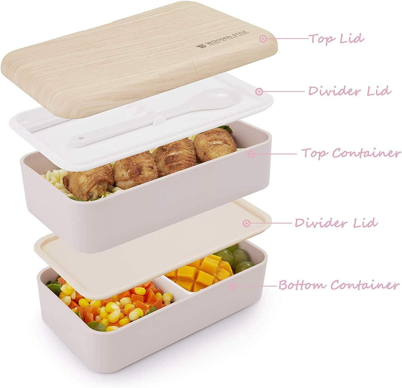 2 Tier with Cutlery with Spoon and Fork 42OZ Bento Box Lunch Box Containers for Adults and Kids Japanese Bentgo Classic Bento Box Suitable for School and Office- BPA Free /& FDA Approved