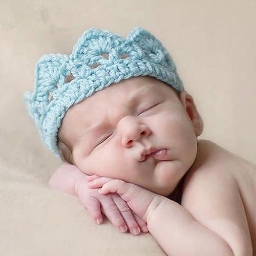 Shhanghe Fashion Cute Crochet Crown Knit Accessories Headband Hat Newborn 972cb1defa74
