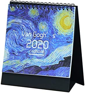 Taimot 2020 Desktop Calendar Creative Schedule Memo Desktop Flip Calendar Stand Up Desk Plan Date Notepad DIY Calendar with Emoji Sticker for School Home Business Office